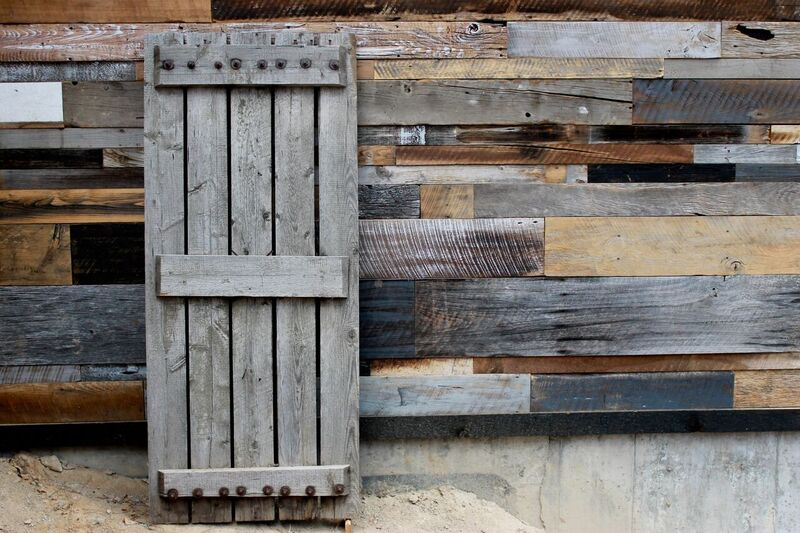 reclaimed wood doors and interiors