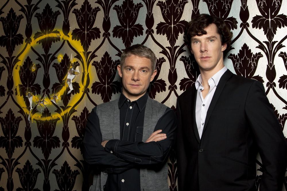 "Martin Freeman as Dr. John Hamish Holmes in ""Sherlock"""
