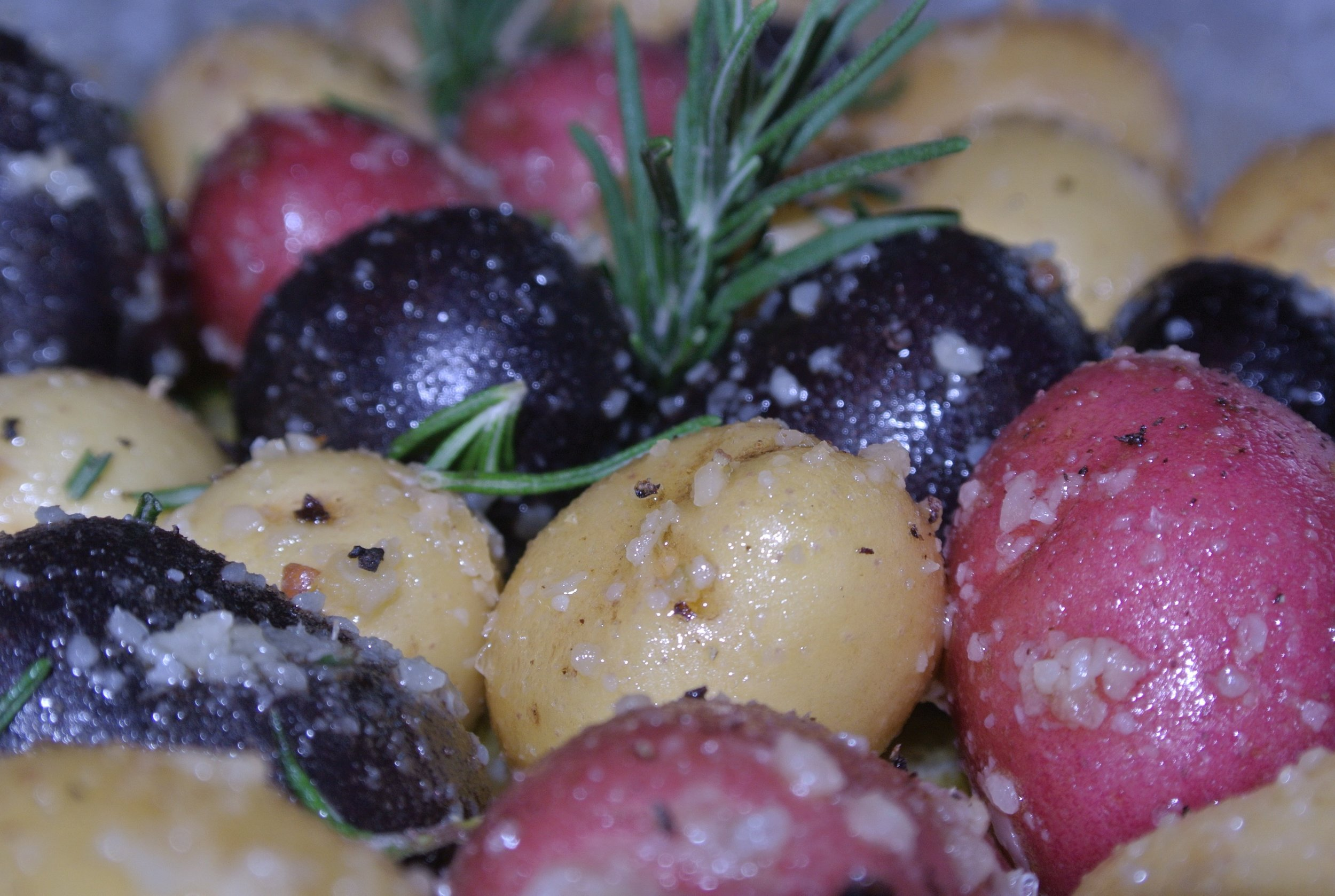 Side Dishes - Featured image: Roasted rosemary and garlic baby potatoes