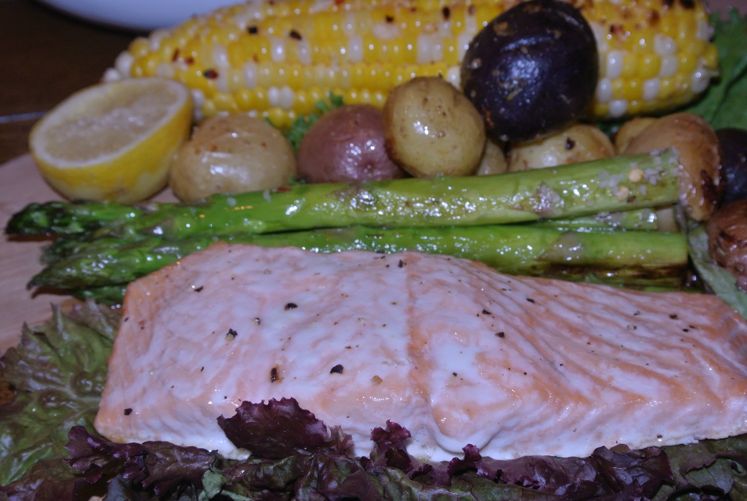 Lemon Drizzled Salmon