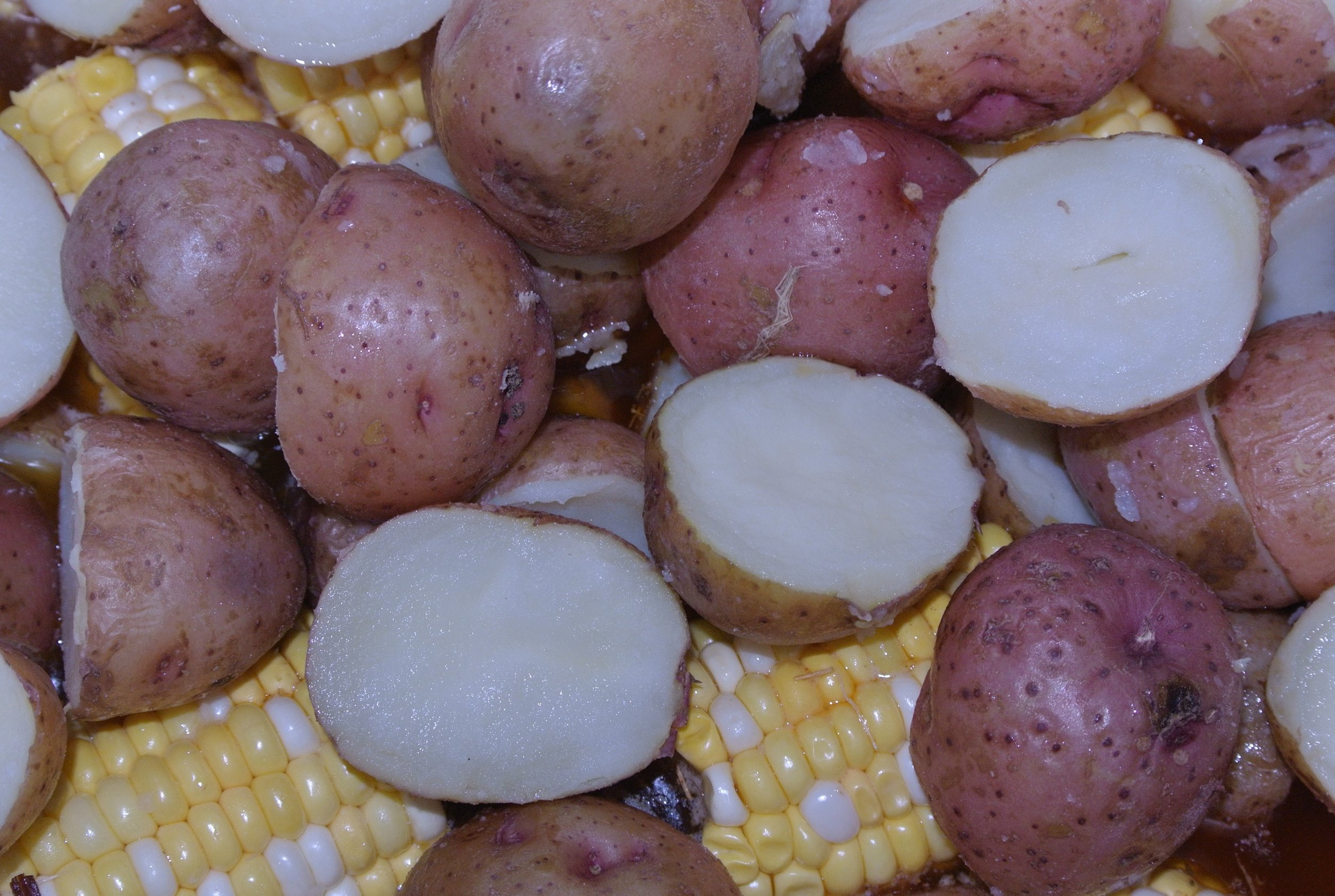 Salt Potatoes and Corn