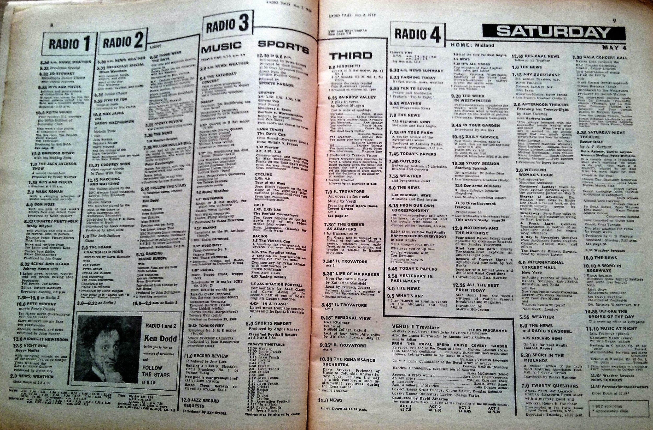 Still the best radio listings, anywhere. 1968