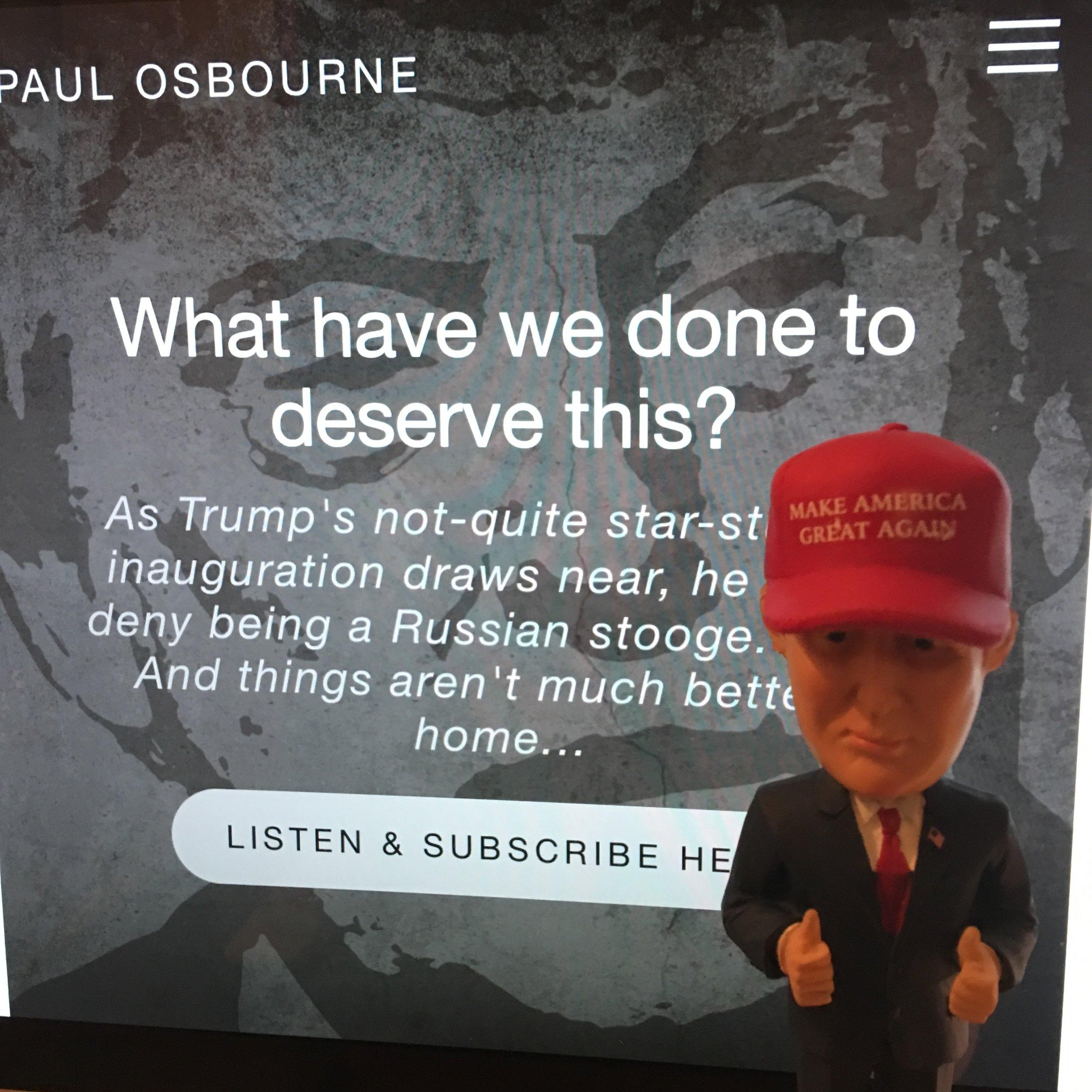 Donald Trump endorses the podcast. Kind of.