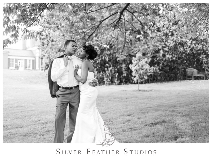 Juliet and Marc at the Foust Building at UNCG. Photography by Silver Feather Studios.