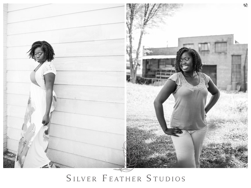Downtown Durham senior session by Silver Feather Studios.