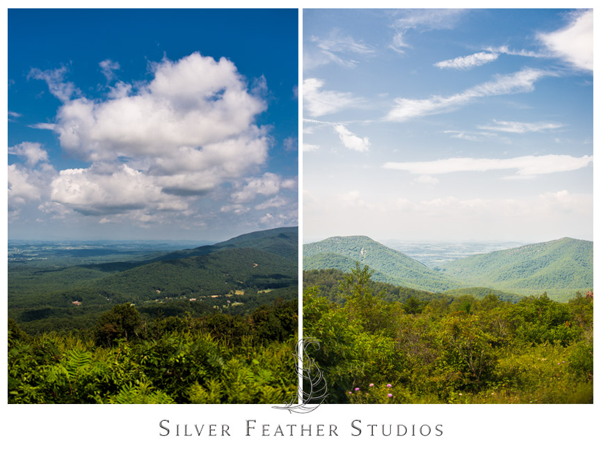 Gorgeous view of the valleys and mountains in Shenandoah National Park