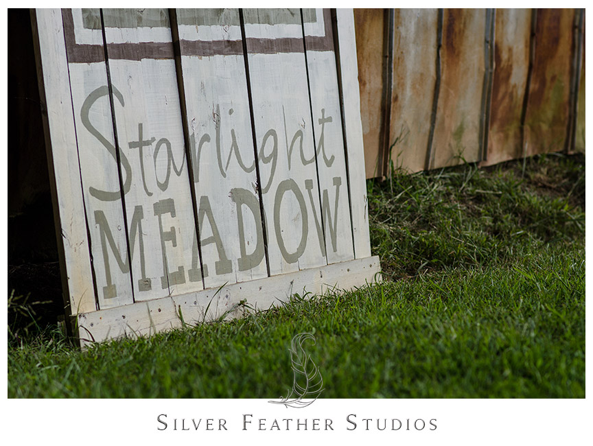 Wedding at Starlight Meadow in Burlington, NC. Photography by Silver Feather Studios.