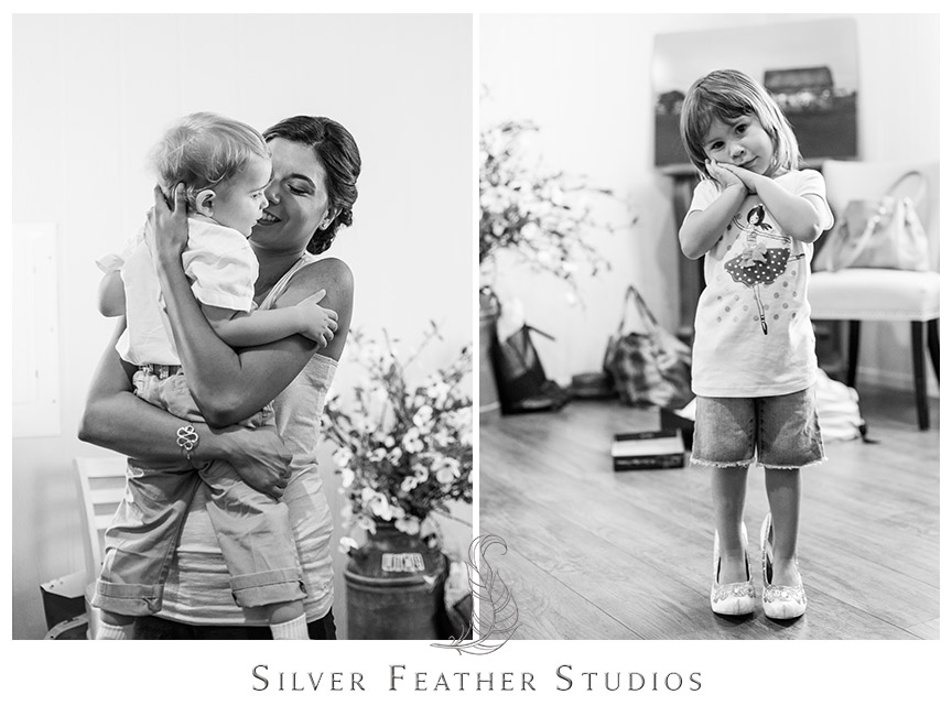 Adorable flower girl and ring-bearer at barn wedding at Starlight Meadow in Burlington, NC. © Silver Feather Studios