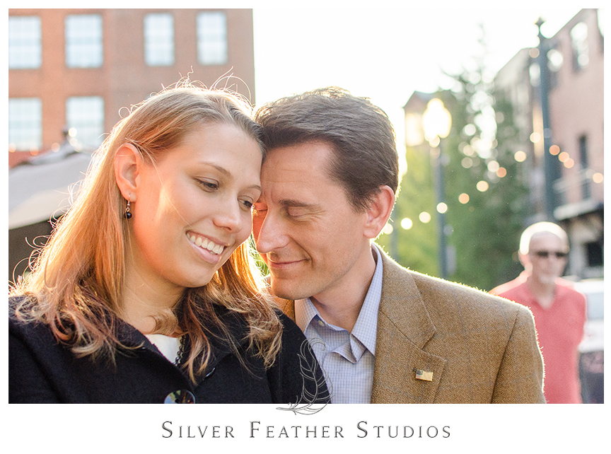 Downtown Asheville engagement photography with Brittany and Josh.   © Silver Feather Studios, North Carolina Wedding Photography & Videography
