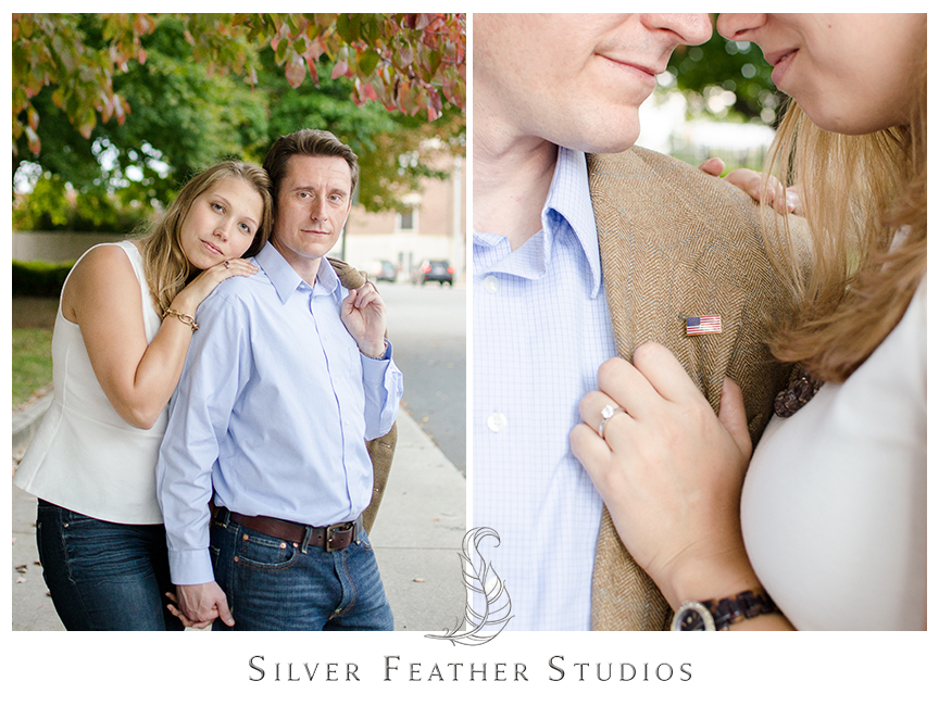 Downtown Asheville engagement photography of Brittany and Josh.   © Silver Feather Studios, North Carolina Wedding Photography & Videography