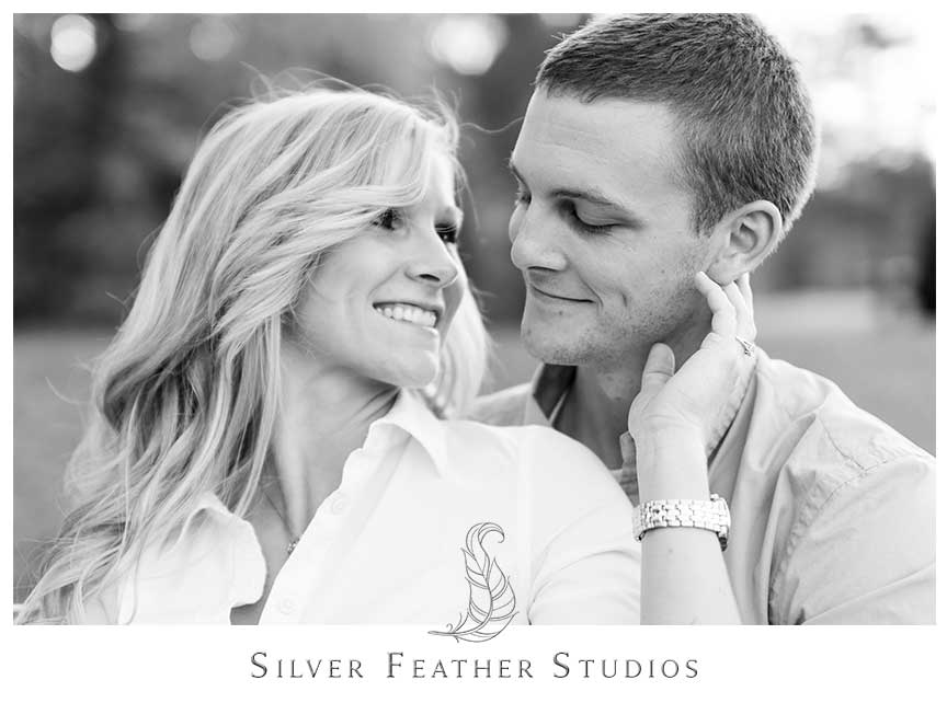 Romantic couples photography at Fearrington Village, in Pittsboro, NC. © Silver Feather Studios, Pittsboro Wedding Photography and Videography
