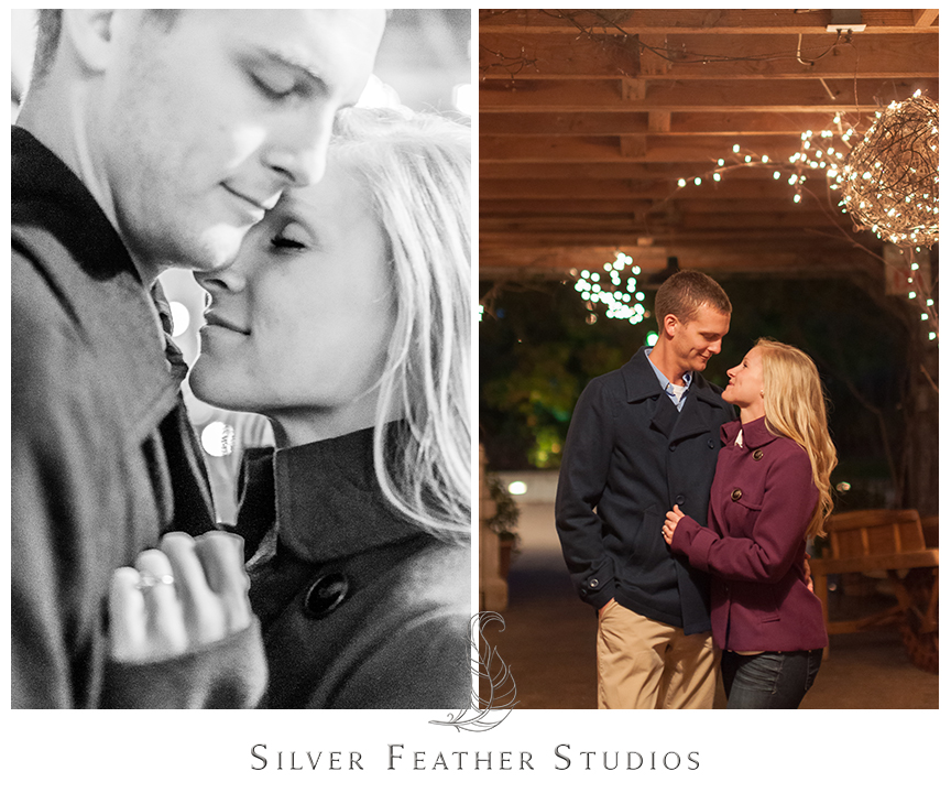 Romantic barn images at this Fearrington Village engagement session in Pittsboro, NC. © Silver Feather Studios, Chapel Hill Wedding Videography and Photography