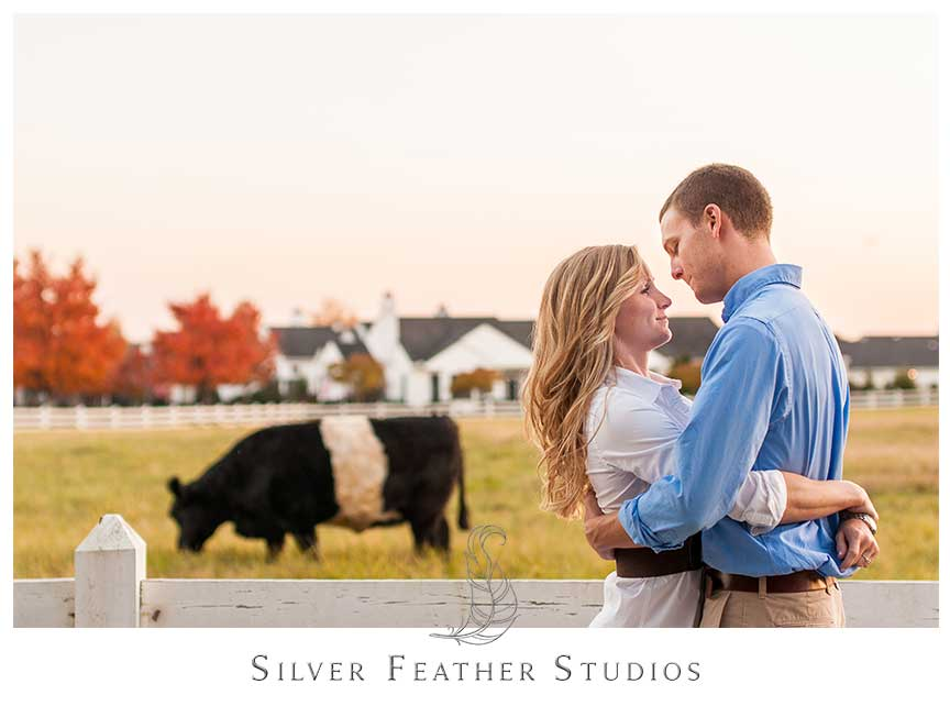 Romantic and modern Fearrington Village engagement session. © Silver Feather Studios, Chapel Hill Wedding Videography and Photography