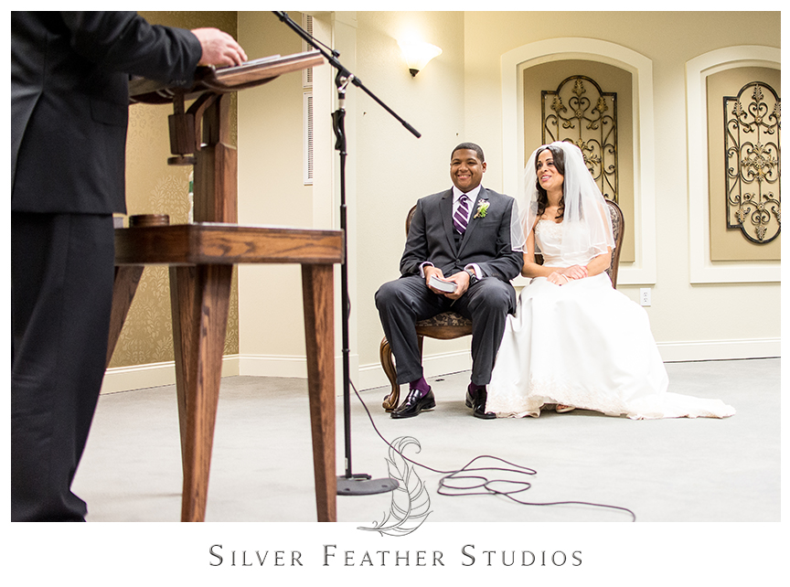Marcellus and Lisa at their Jehovah's Witness ceremony in Greensboro, North Carolina. © Silver Feather Studios, Wedding Photography in Greensboro, North Carolina.