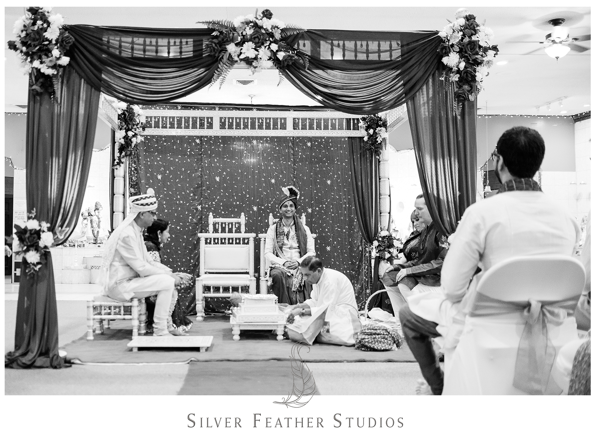 Traditional Indian Hindu ceremony in Raleigh, North Carolina.