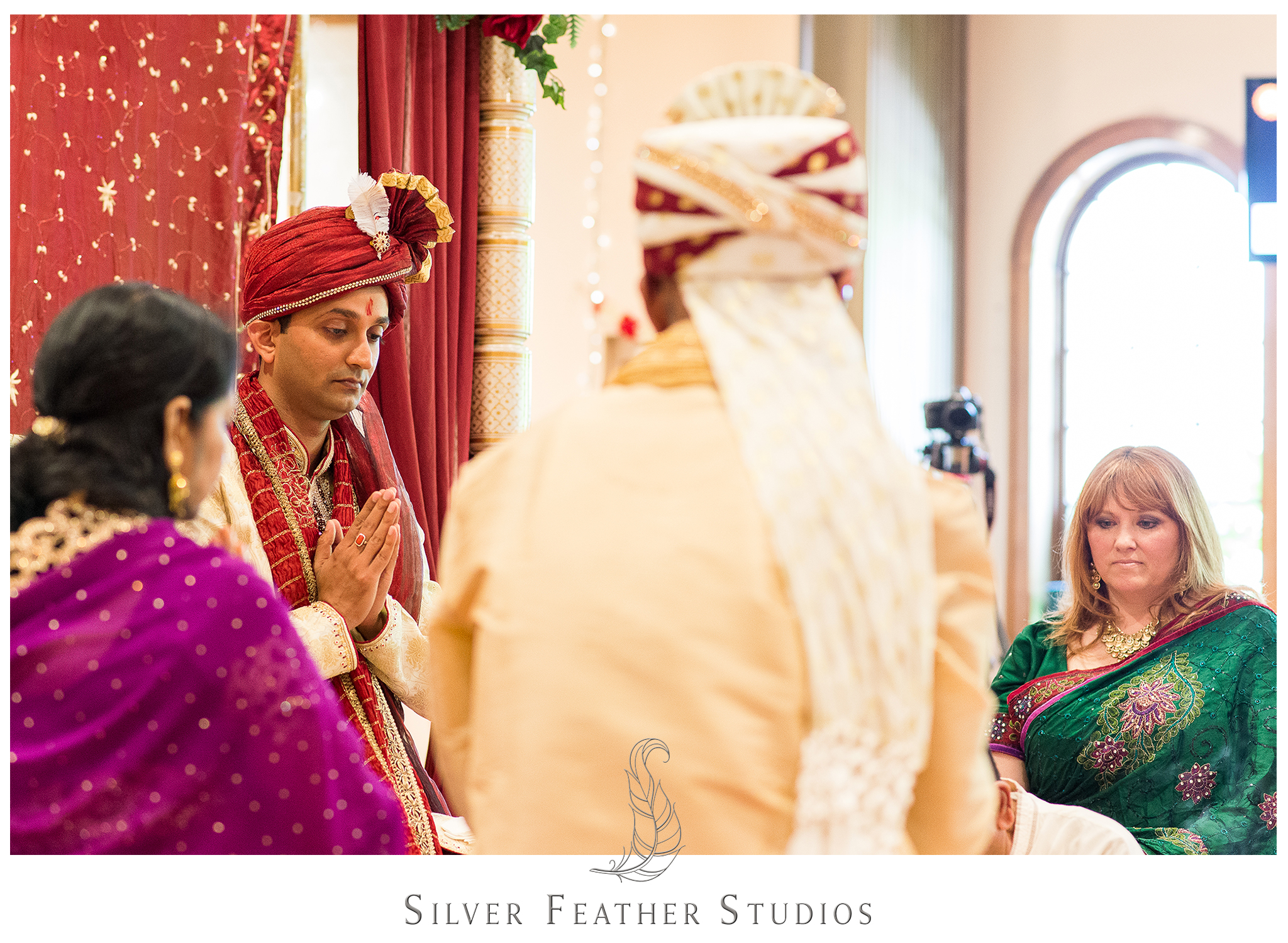 Burlington, NC wedding photo and video company documents this Indian wedding in Raleigh.