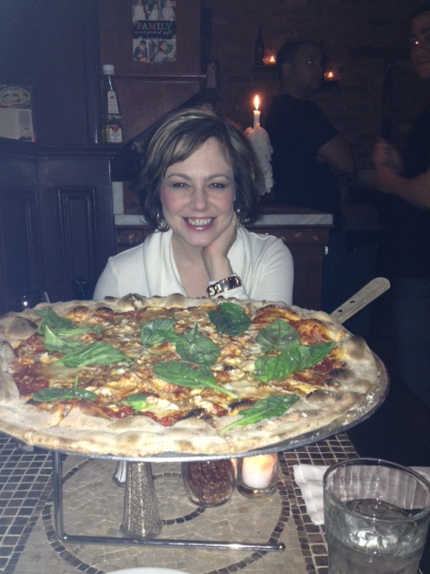 and before you ask, yes…we ate the whole pizza…it was very thin (he he he) and we were FAMISHED!