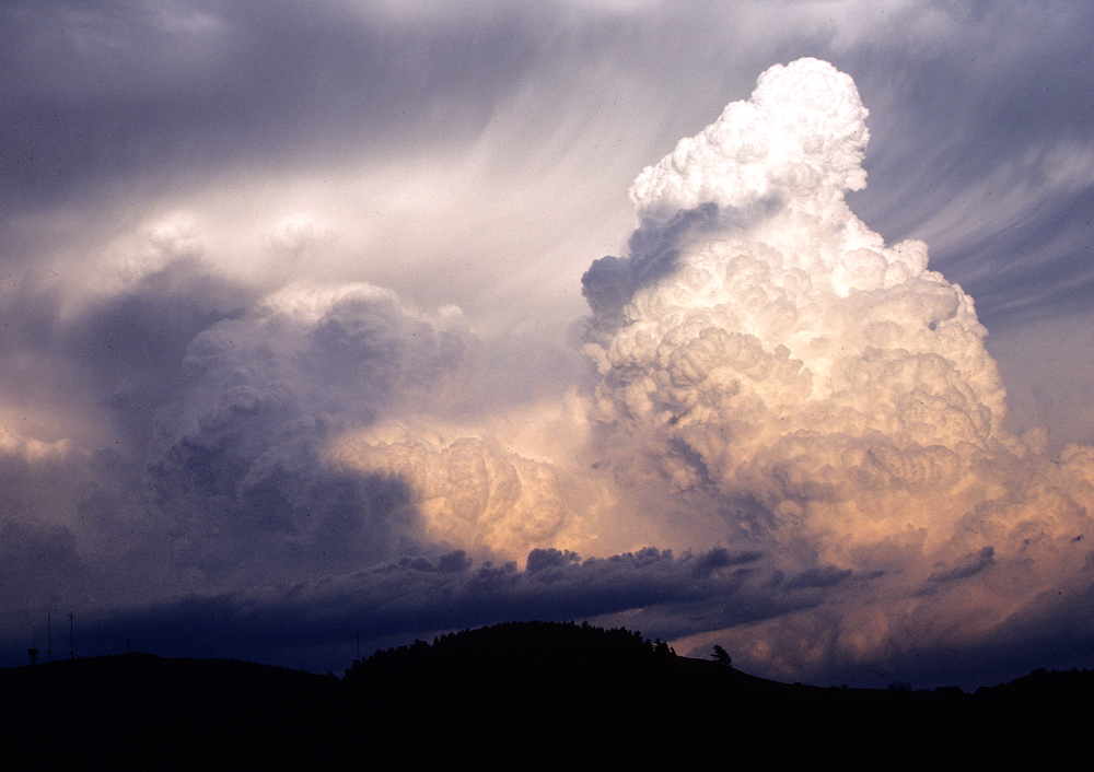 Thunderstorm over Iron Mountain