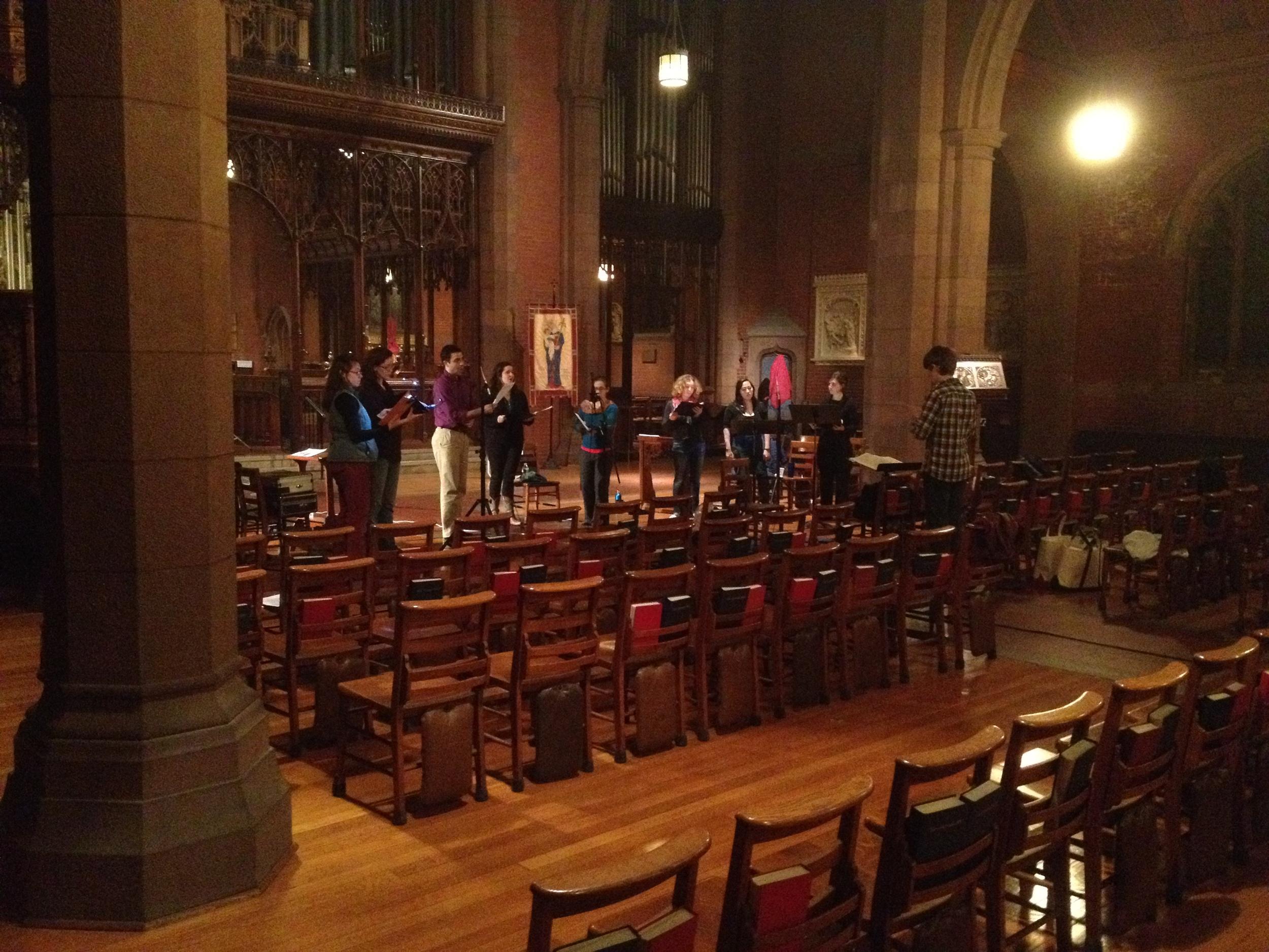 """Recording Mendelssohn's """"Laudate pueri"""" in Christ Church, New Haven"""