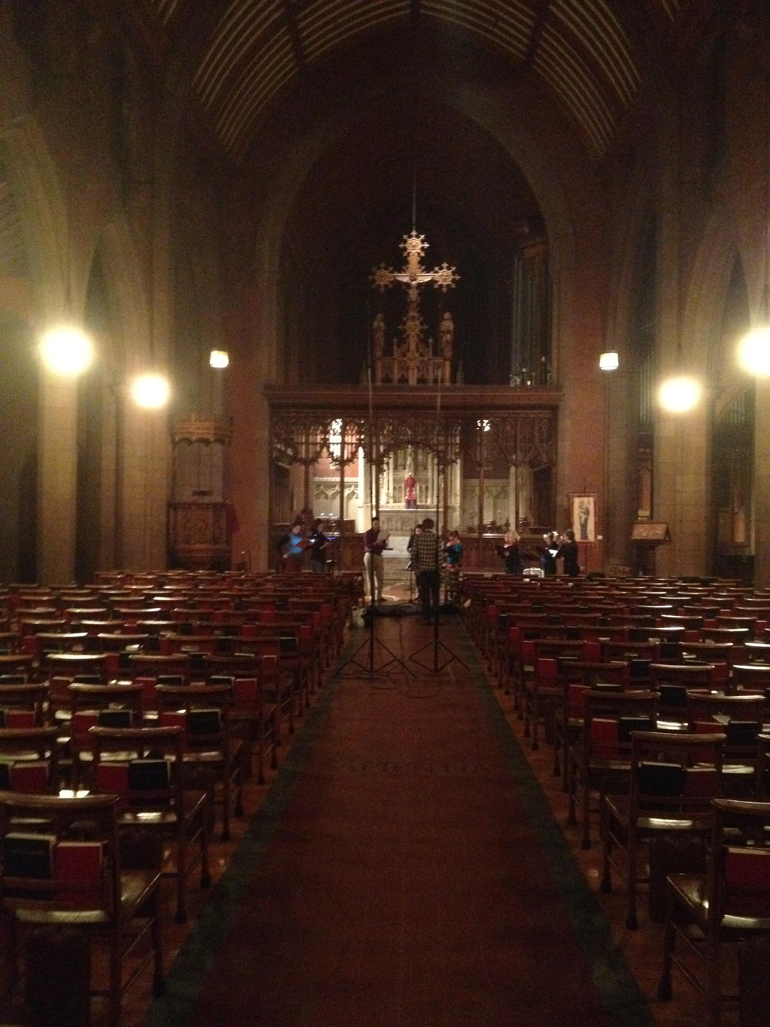 Recording Mendelssohn in Christ Church, New Haven
