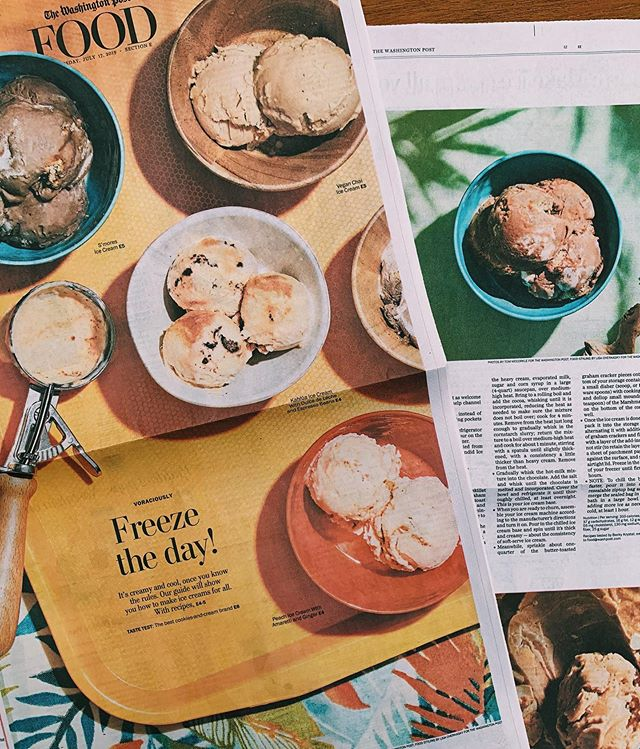 The one and only @sotocop took me under her wings to art direct this special issue on homemade ice cream for @eatvoraciously. Featuring @tommccorkleimages's photos and @becky.krystal's recipes