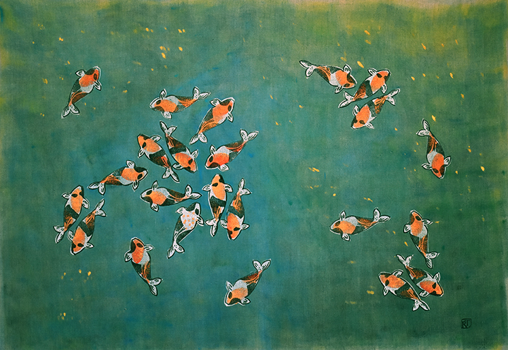 Koi No. 21  |  Hot Day  | 35 x 53 inches | SOLD
