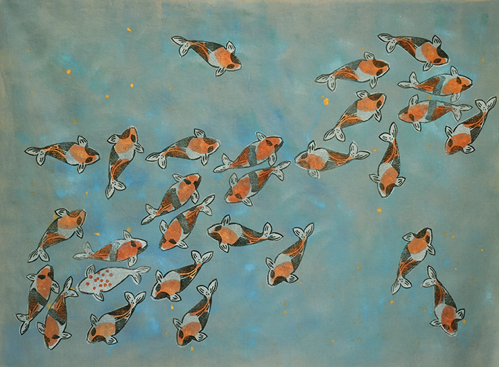 Koi No. 8  |  Current   |  33.5 x 44 inches