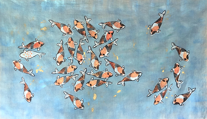 Koi No. 12  |  Izzie's Koi   |  34 x 43 inches  |  Not Available