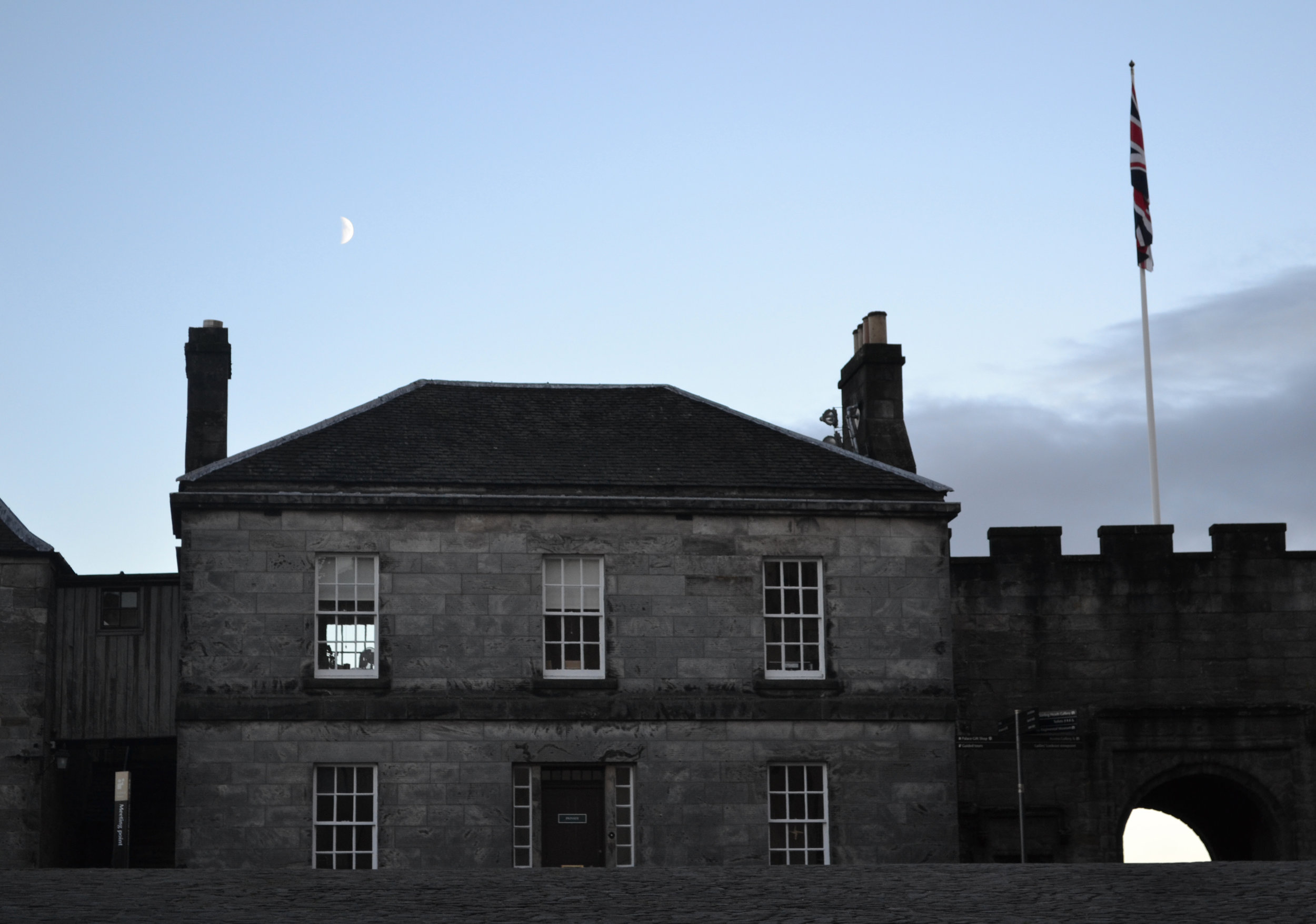 Moon rising over Stirling Castle.