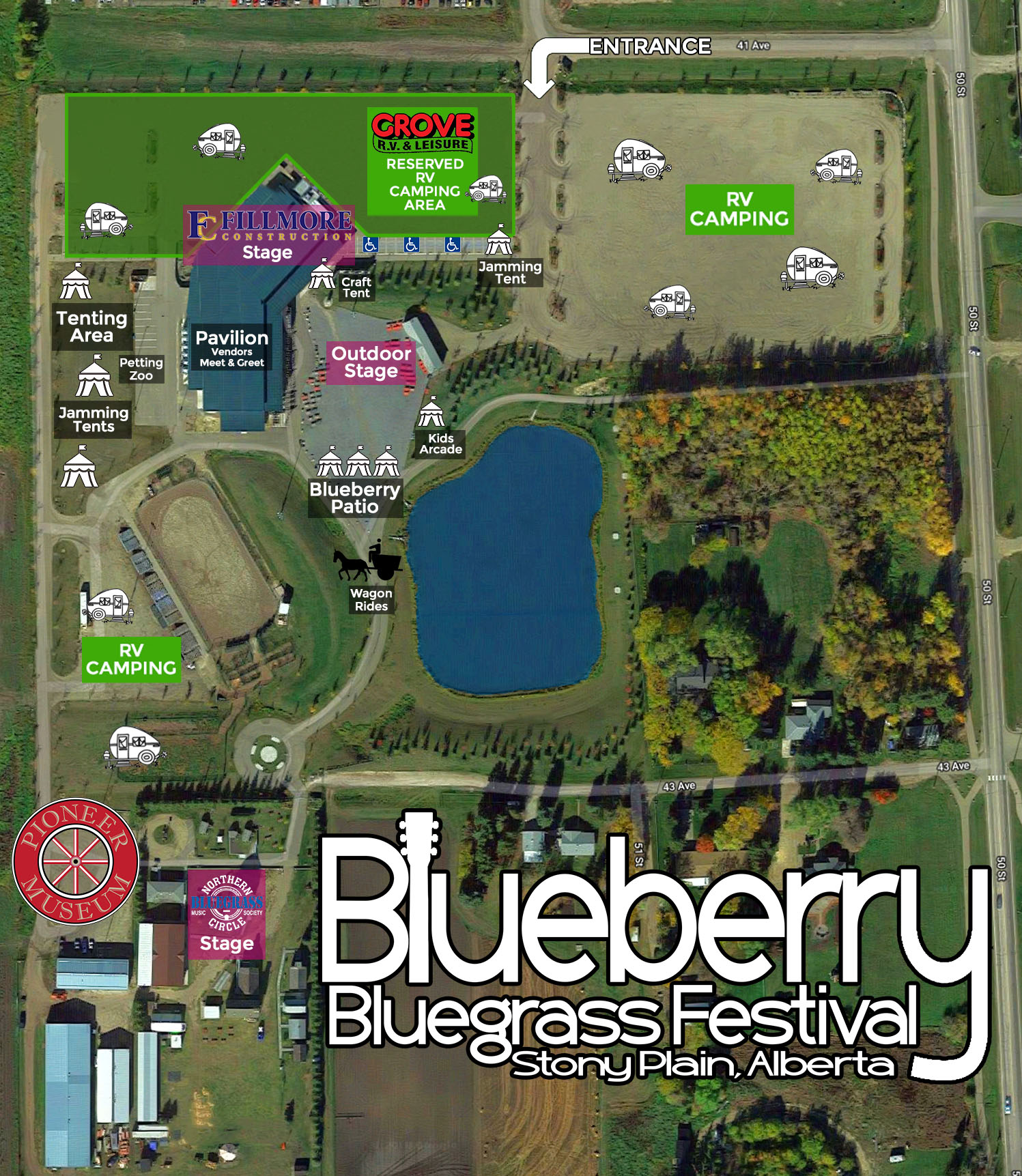 Festival Site Map  Click to magnify