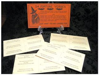 Complete set of 24 Beistle Fortune Verses