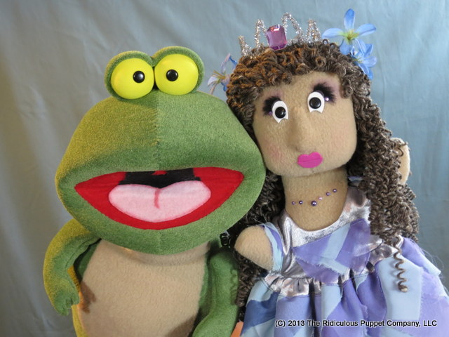 The frog and princess from The Frog Prince.