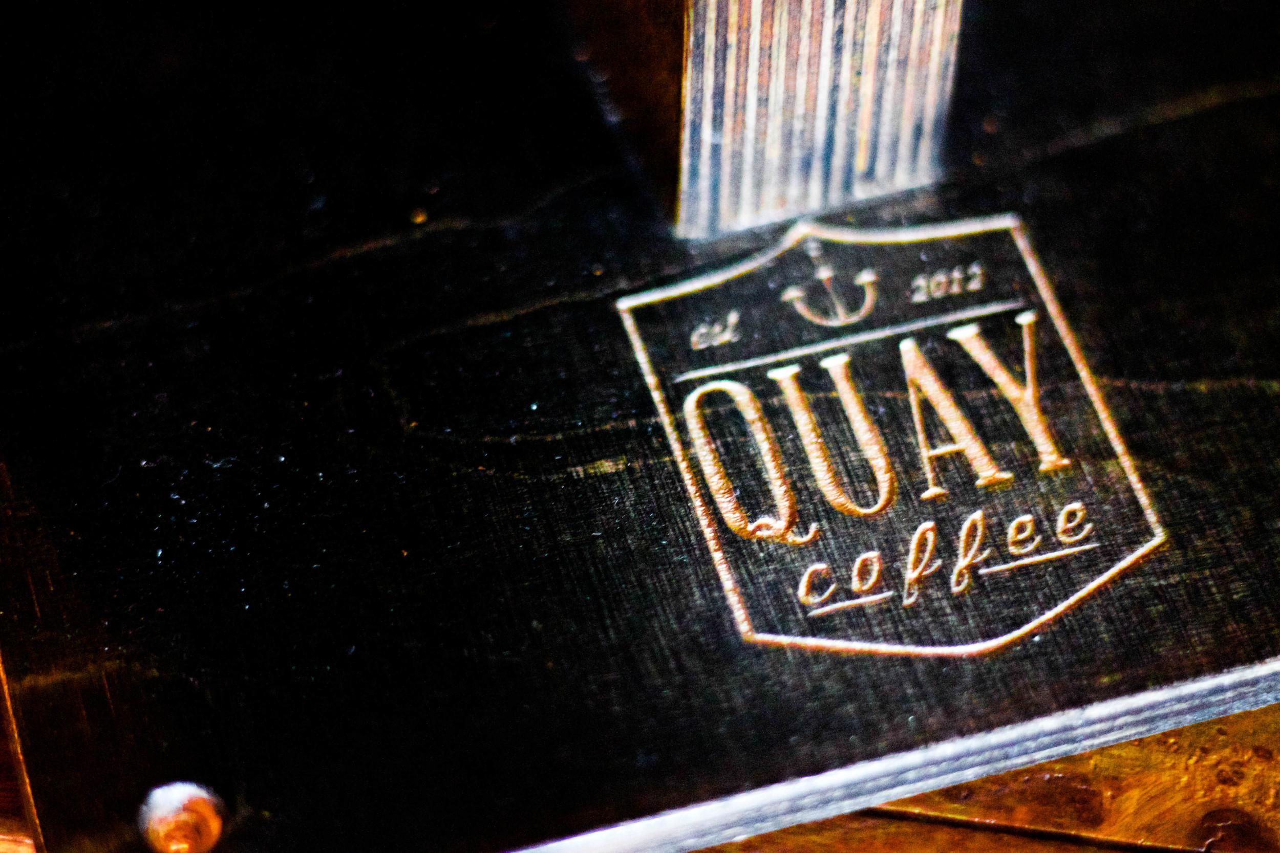 Quay Coffee Logo Engraved