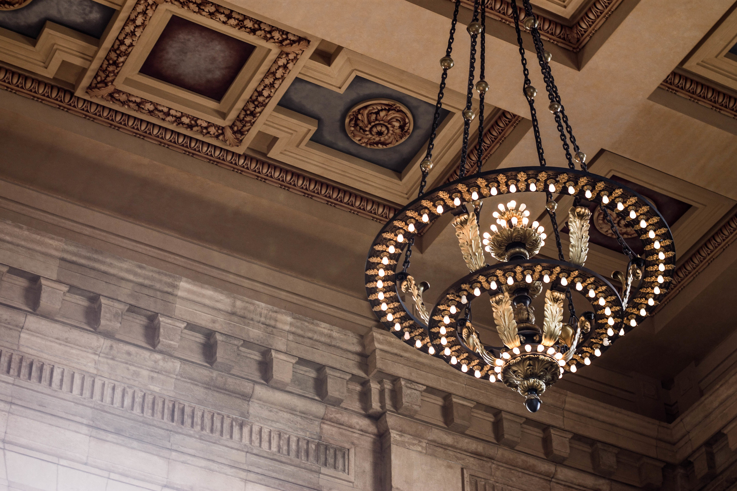 Chandelier at Union Station