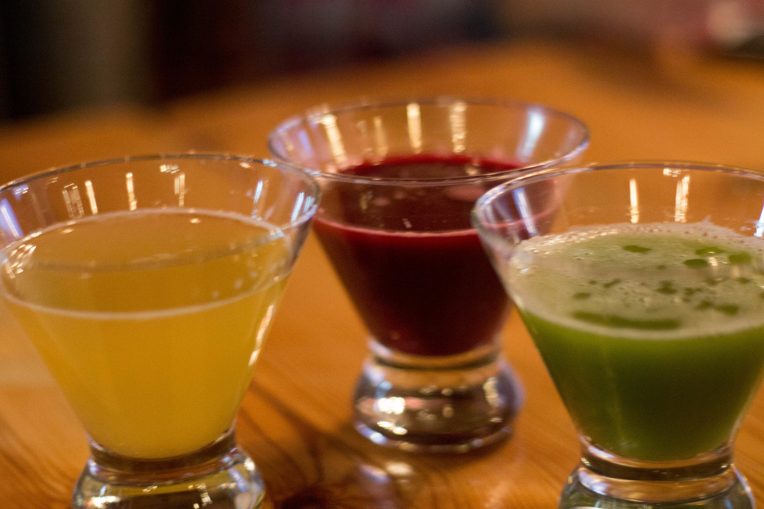 Fresh Juices at Cafe Graditude