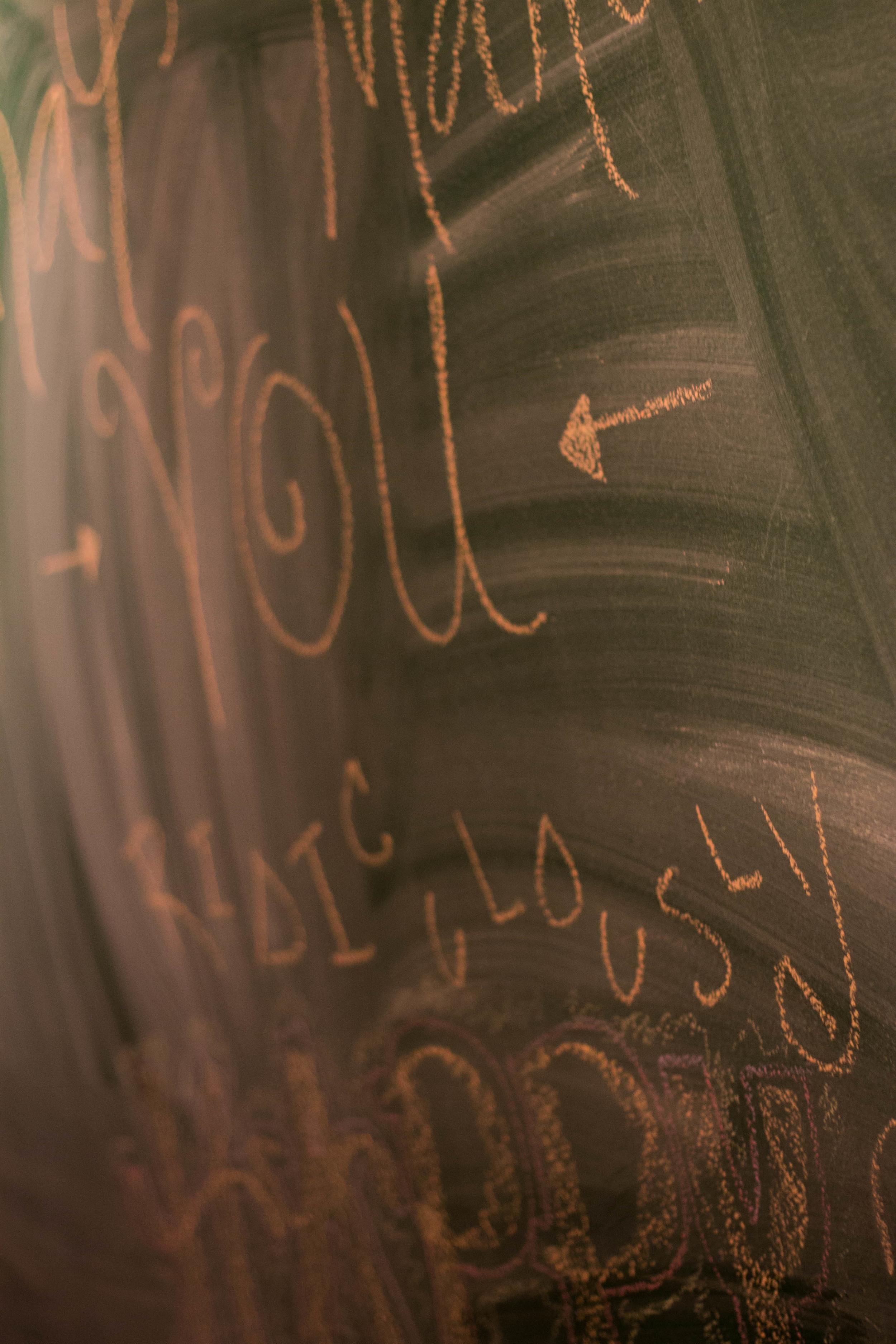 Chalkboard at Cafe Gratitude