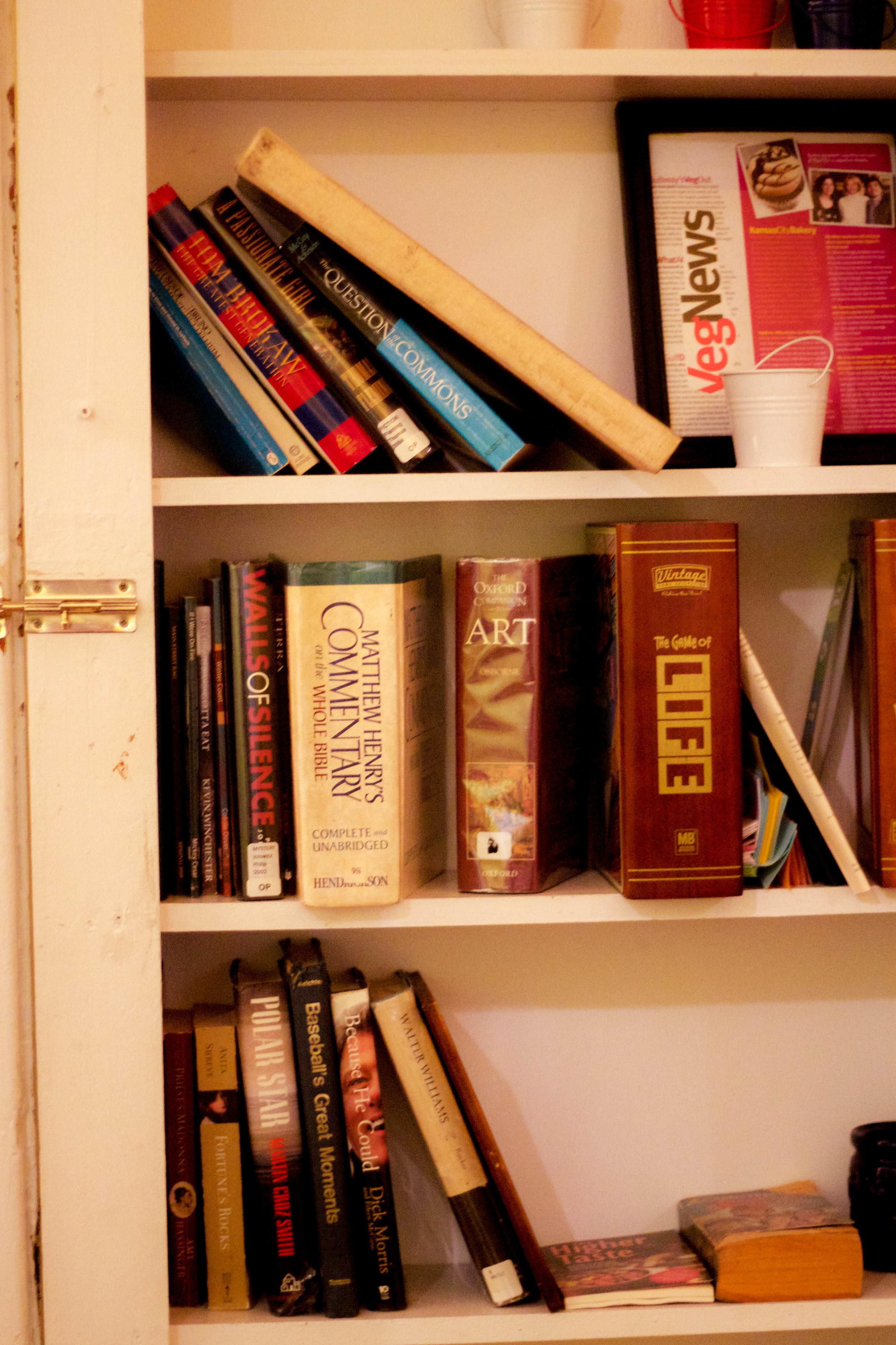 Bookshelf at Mud Pie