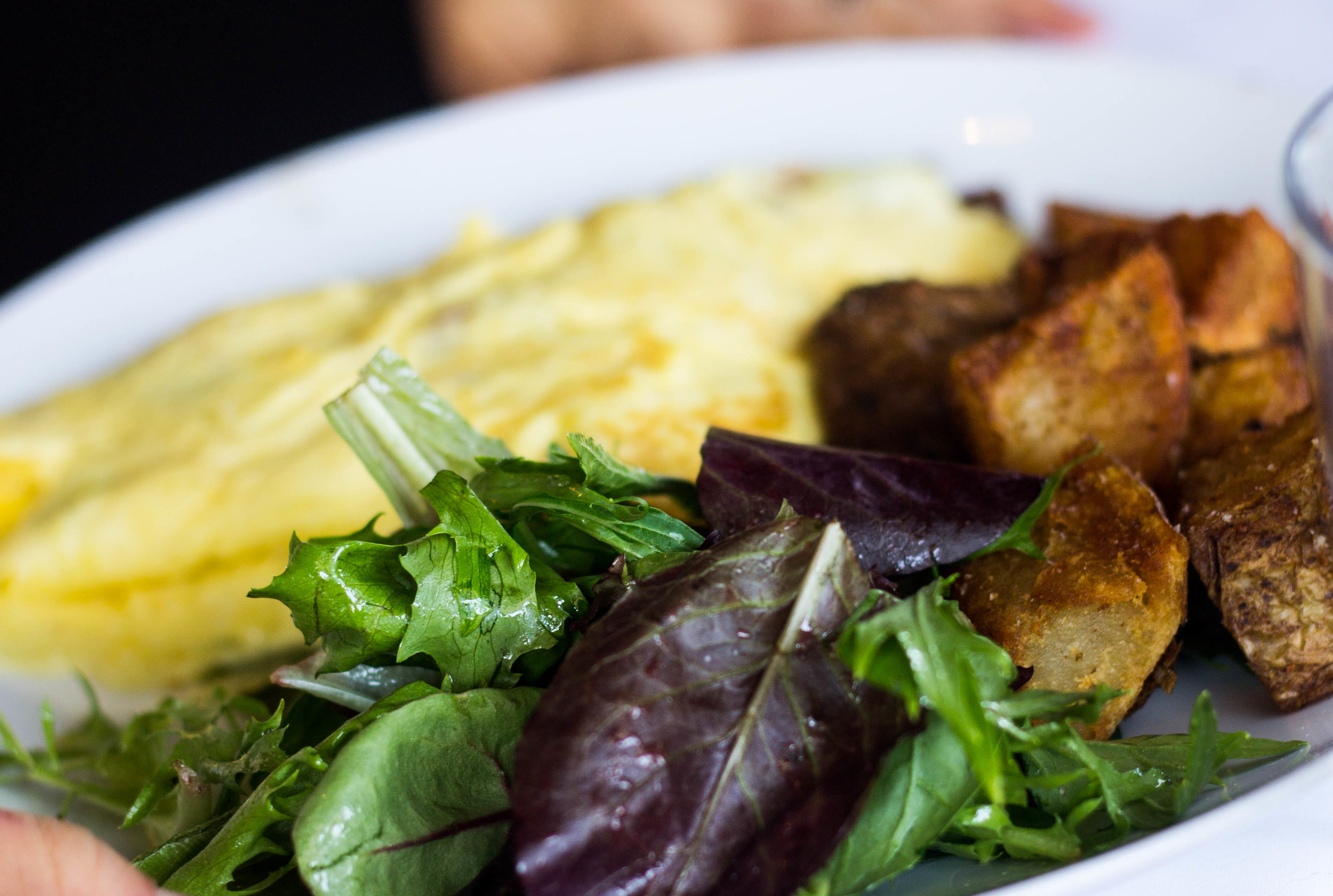 Omelet Salad and Potatoes at Bluestem