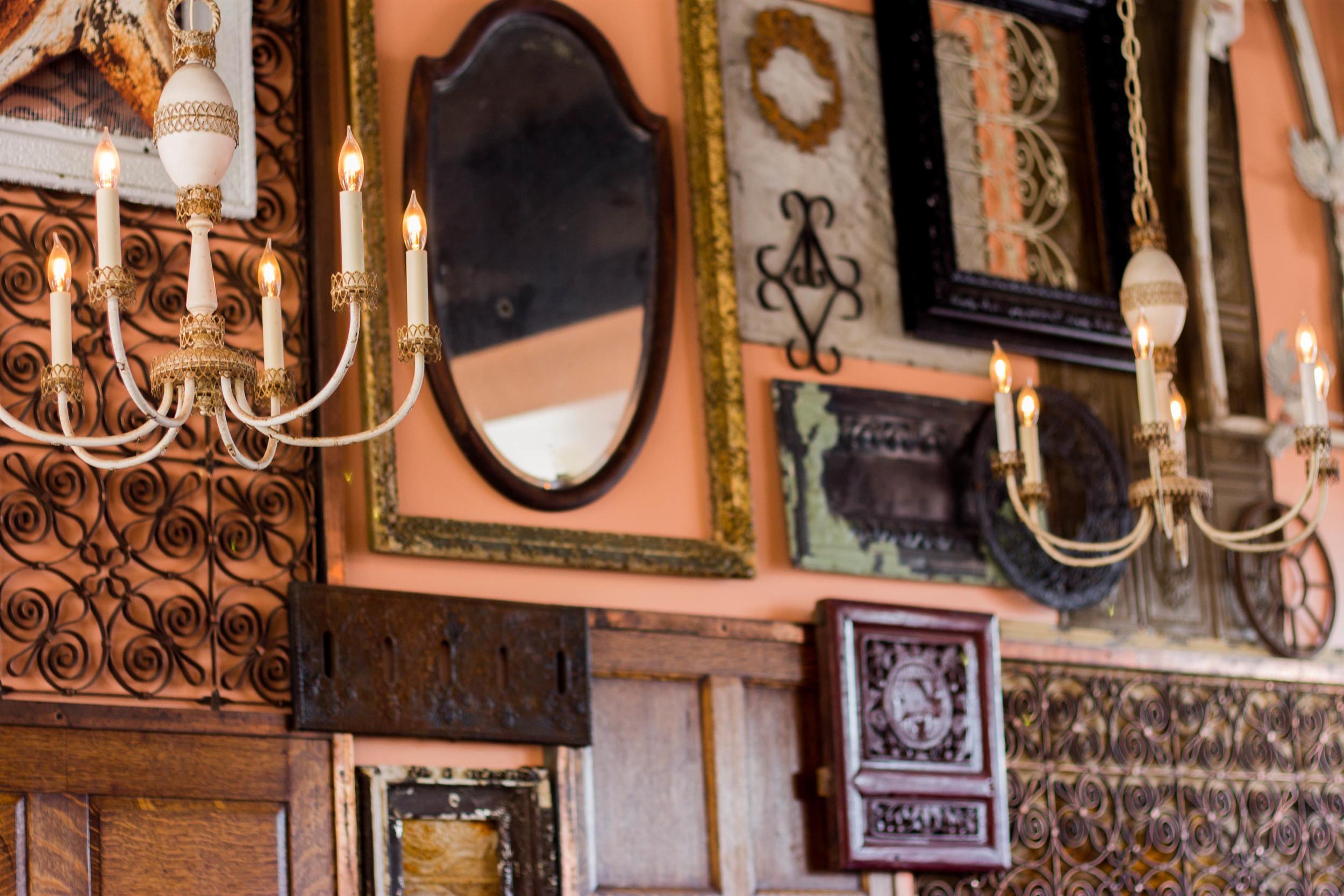 Vintage Wall at Genessee Royale Bistro