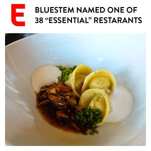 "KC Bluestem Named ""Essential"" Restaurant"