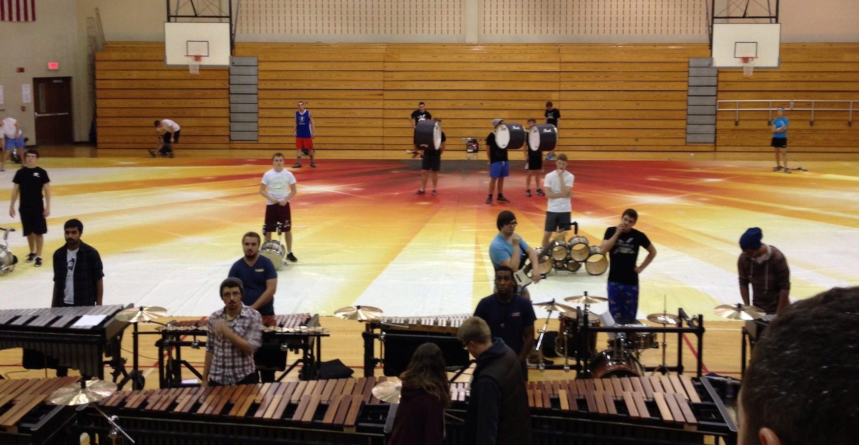 The D4 at a full ensemble rehearsal.