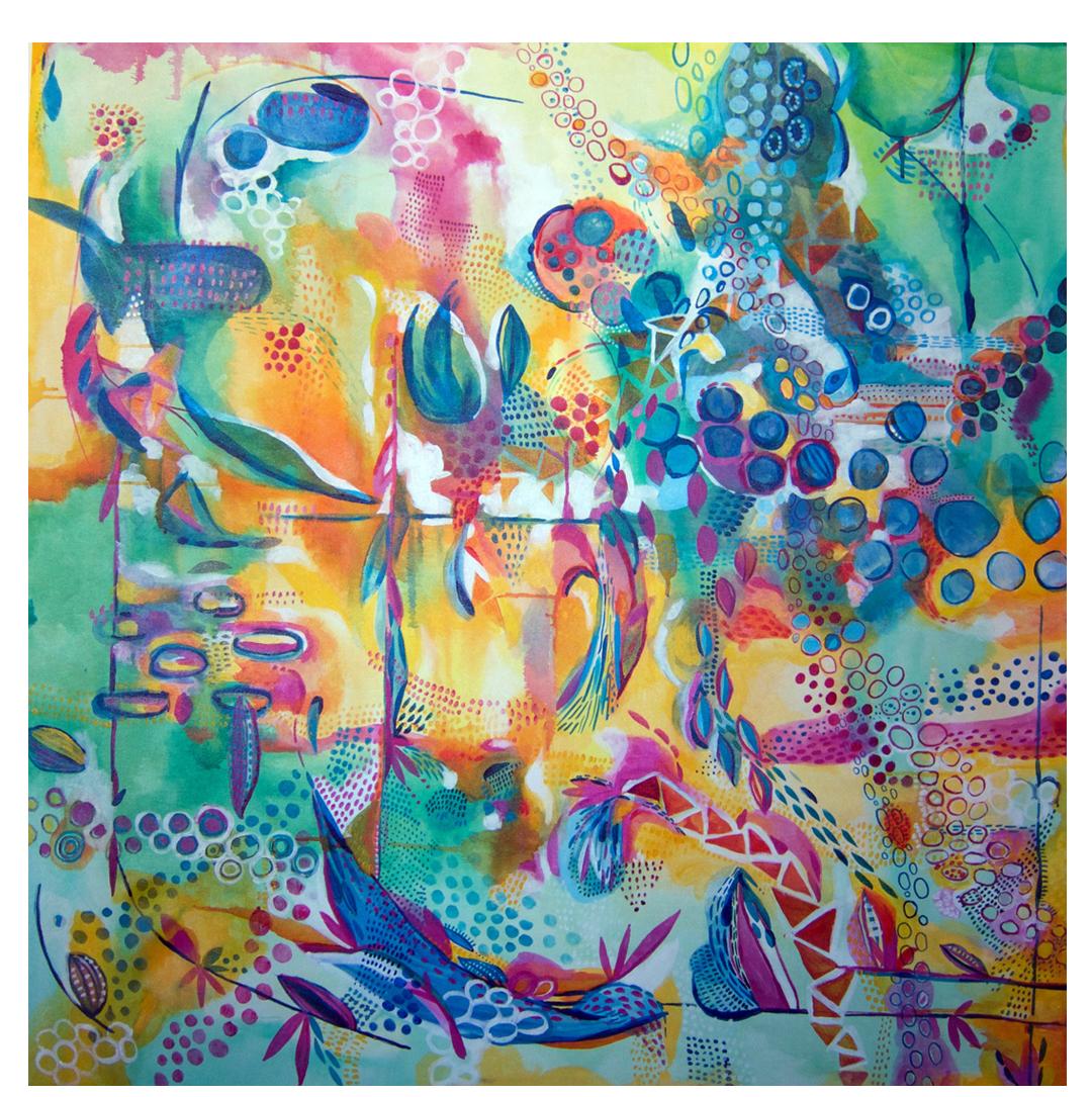 """Oz 2016 48x48"""" acrylic on canvas"""