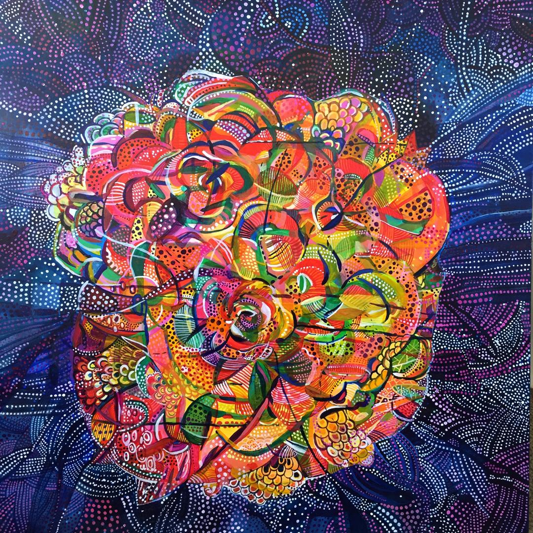 "Presenting Lily Mars 2016 30x30"" acrylic on canvas"