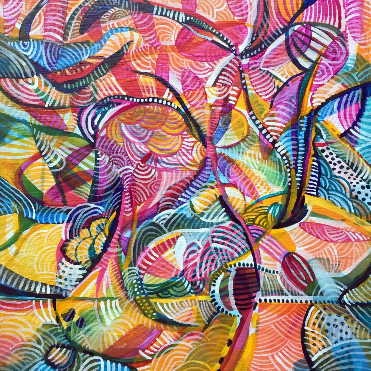"Little Nellie Kelly 2016 8x8"" acrylic on panel"