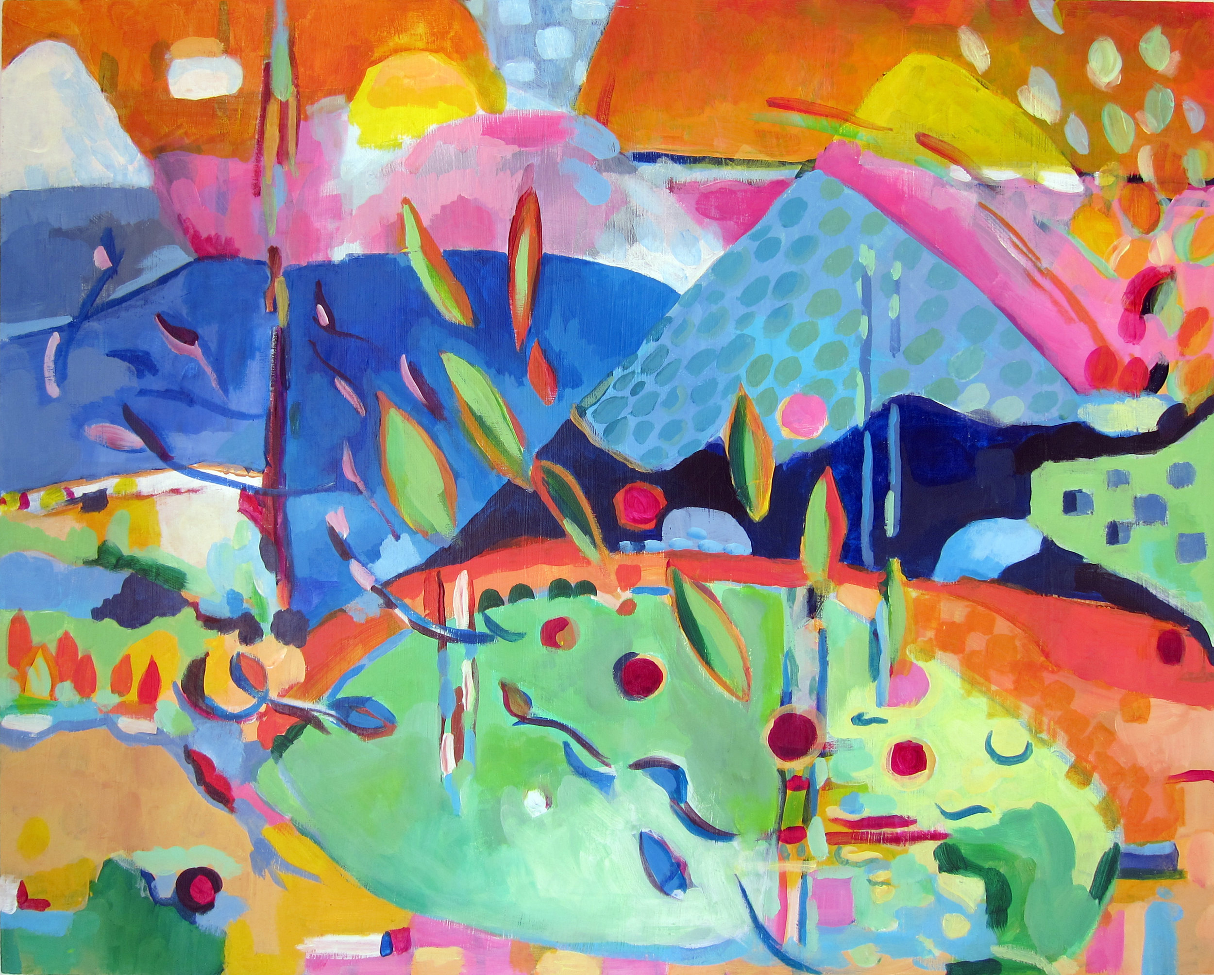 "Ideal Landscape 2014 20x16"" acrylic on panel"