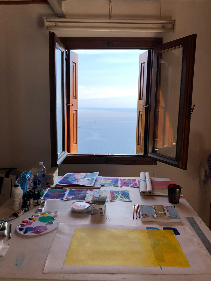 Workspace with a view, Skopelos Foundation for the arts 2019