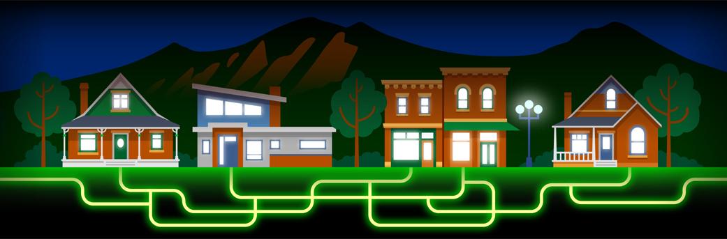 Fiber Network  • This website banner depicts the power of high speed fiberoptic internet.  Client: Google Fiber