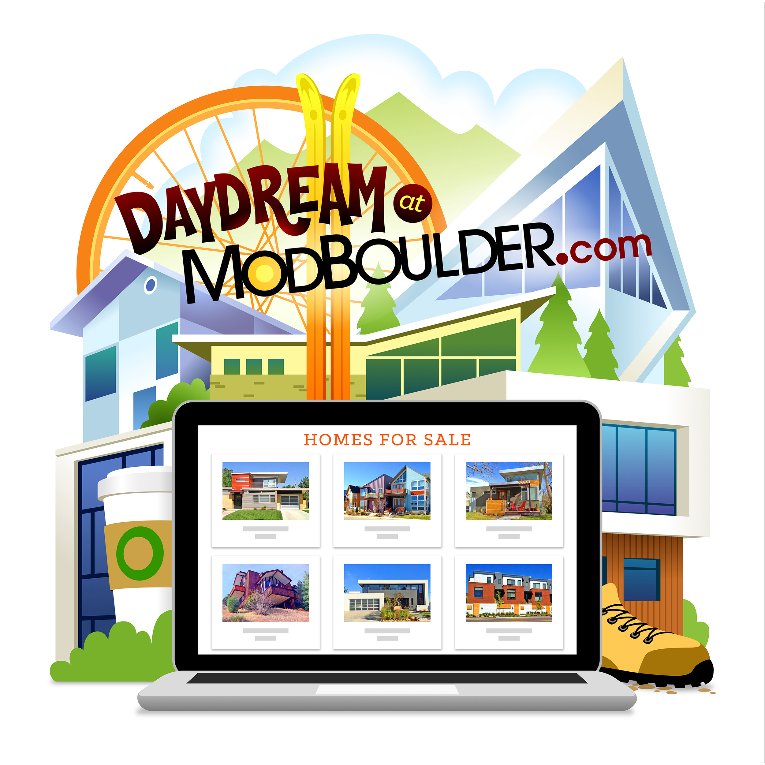 Daydream  • An illustration to inspire people to browse dream homes online.  Client: Mod Boulder