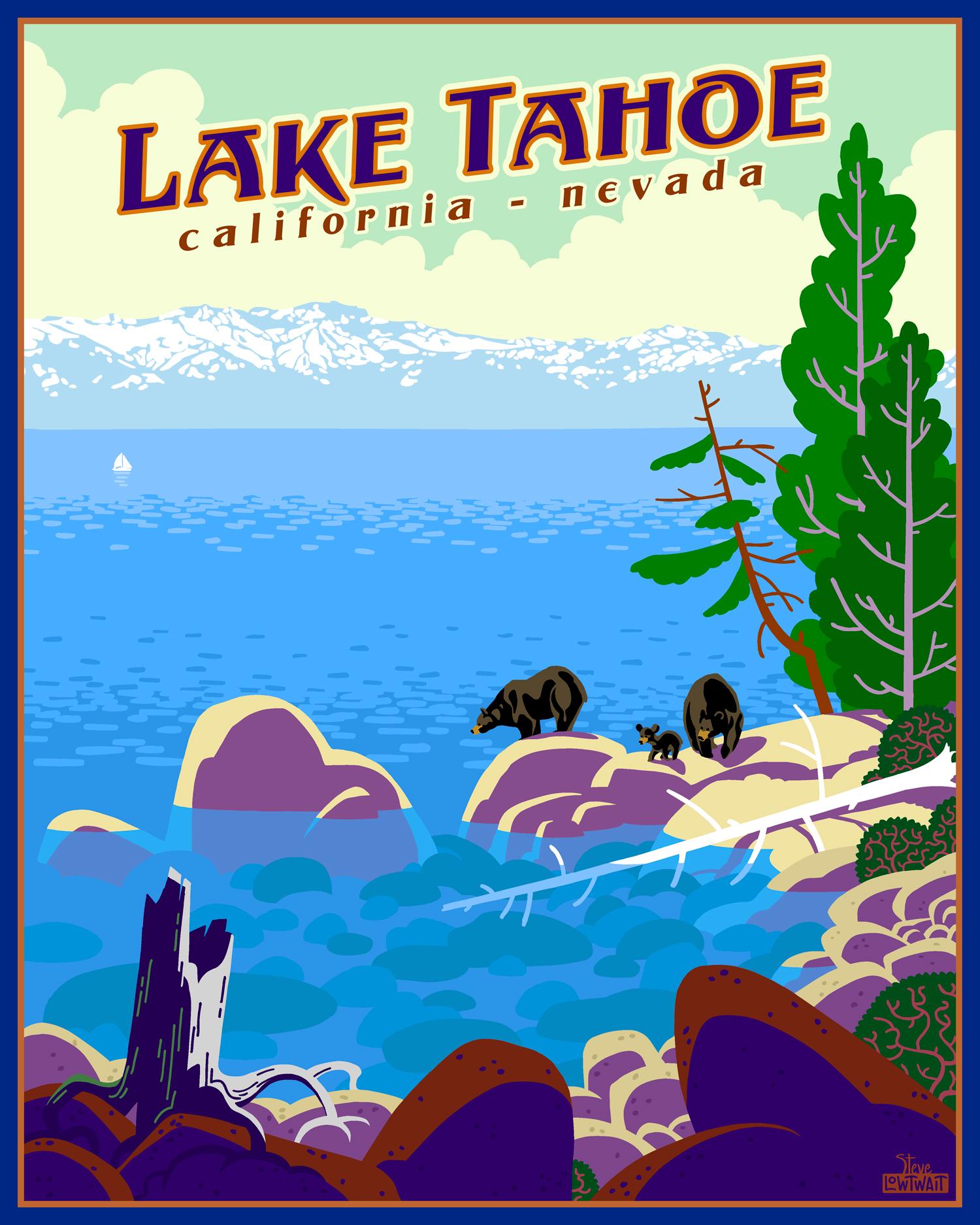 Lake Tahoe, California - Nevada •  Buy