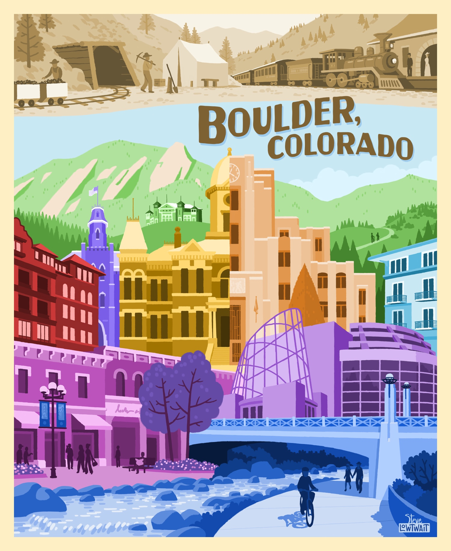 Boulder, Colorado Landmarks •  Buy